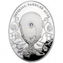 "Silver Coin PANSY EGG 2011 ""Imperial Faberge Eggs"" Series"