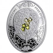 "Silver Coin CLOVER LEAF EGG 2010 ""Imperial Faberge Eggs"" Series"