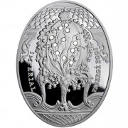 "Silver Coin LILY OF THE VALLEY EGG 2010 ""Imperial Faberge Eggs"" Series"