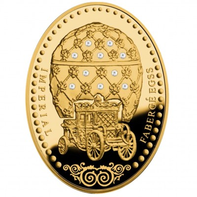 "Gold Coin CORONATION EGG 2012 ""Imperial Faberge Eggs"" Series"