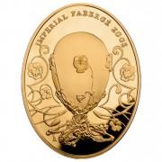 Золотая монета ЯЙЦО С АНЮТИНЫМИ ГЛАЗКАМИ 2012 серии «Императоркие Яйца Фаберже»