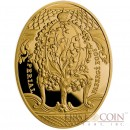 Niue Island Lily of the Valley Egg $100 Imperial Faberge Eggs series Gold Coin 2011 Oval Proof 3 oz