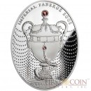 Niue Island The Duchess of Marlborough Egg $2 Imperial Faberge Eggs series Silver Coin 2011 Oval  Zircons Proof 1.8 oz