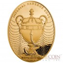 Niue Island Duchess of Marlborough Egg $100 Imperial Faberge Eggs series Gold Coin 2012 Oval Proof 3 oz