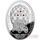 Niue Island Coronation $1 Imperial Faberge Eggs series Gilded Silver Coin 2012 Oval Shape Proof Swarovski Crystals