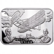 """Silver Coin AEROPLANE 2011 """"How Man Conquered the Skies"""" Series"""
