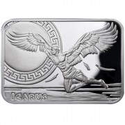 """Silver Coin ICARUS 2010 """"How Man Conquered the Skies"""" Series"""