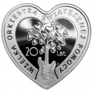 """Silver Coin LOVE AND MUSIC """"20 Years of the Great Orchestra of Christmas Charity 2012"""" Series"""