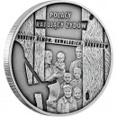 "Silver Coin  FAMILIES ULMÓW, KOWALSKICH, BARANKÓW 2012 ""Poles Rescuing the Jews"" Series"