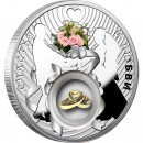 Silver coin HAPPINESS AND LOVE - WEDDING 2012, Niue
