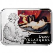 Серебряная монета ДИЕГО ВЕЛАСКЕС 2011 серии «Художники Мира»
