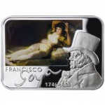 """Silver Coin FRANCISCO GOYA 2010 """"Painters of the World"""" Series"""