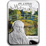 """Silver Coin CLAUDE MONET 2010 """"Painters of the World"""" Series"""