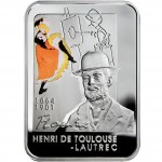 """Silver Coin HENRY DE TOULOUSE-LAUTREC 2008 """"Painters of the World"""" Series"""