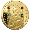 "Gold Coin SAINT NICHOLAS THE WONDERWORKER 2008 ""Saints of Orthodox"" Series"