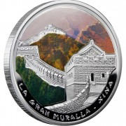 "Silver Coin THE GREAT WALL IN CHINA  2009 ""Wonders of the World"" Series"