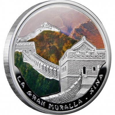 """Silver Coin THE GREAT WALL IN CHINA  2009 """"Wonders of the World"""" Series"""