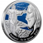 "Silver Coin CHRIST THE REDEEMER 2009 ""Wonders of the World"" Series"