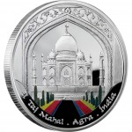 "Silver Coin TAJ MAHAL 2009 ""Wonders of the World"" Series"