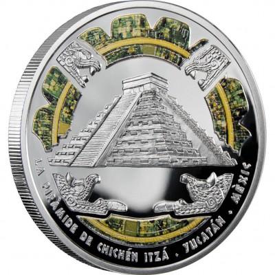 "Silver Coin CHICHÈN ITZÀ 2009 ""Wonders of the World"" Series"