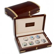 """""""Wonders of the World"""" Series 2009 Seven Silver Coin Set"""