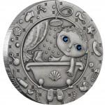 """Silver Coin AQUARIUS 2009 """"Zodiac Signs-Belarus"""" Series"""