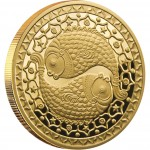 "Gold Coin PISCES 2011 ""Zodiac Signs-Belarus"" Series"