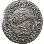 "Silver Coin PISCES 2009 ""Zodiac Signs-Belarus"" Series"