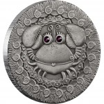 """Silver Coin CANCER 2009 """"Zodiac Signs-Belarus"""" Series"""