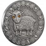Серебряная монета КОЗЕРОГ 2009 серии «Знаки Зодиака- Беларусь»