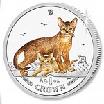 "Silver Colored Coin ABYSSINIAN CAT 2010 ""Cats"" Series"