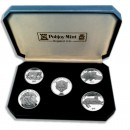 """Big Cats of the World"" Series 2001 Five Silver Coin Set"