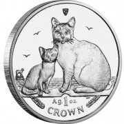 "Silver Coin BURMILLA CAT 2008 ""Cats"" Series"