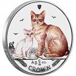 "Silver Colored Coin BURMILLA CAT 2008 ""Cats"" Series"