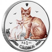 "Silver Colored Coin BURMILLA CAT 2008 ""Cats"" Series"