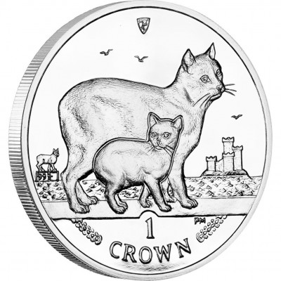 Cu-Ni Coin Manx Cat 2012 Cats Series - 1 oz