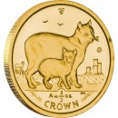 Gold Bullion Coin Manx Cat 2012 Cats Series - 1/2 oz