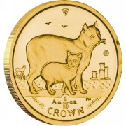 Gold Bullion Coin Manx Cat 2012 Cats Series - 1/10 oz