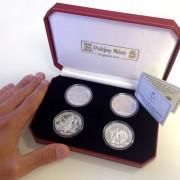 """European Football Championships"" 2012 Four Silver Coin Set, Isle of Man"