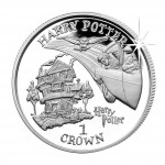 """Copper-Nickel Coin HARRY WITH THE CAR 2001 """"Harry Potter"""" Series, Isle of a Man"""