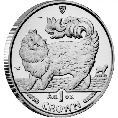 Silver Coin Maine Coon Cat 1993 Cats Series - 1 oz