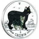 "Silver Colored Coin MANX CAT 2012 ""Cats"" Series"