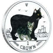 Cu-Ni Colored Coin Manx Cat 2012 Cats Series - 1 oz