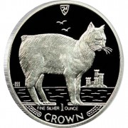 "Silver Colored Coin MANX CAT 1988 ""Cats"" Series"