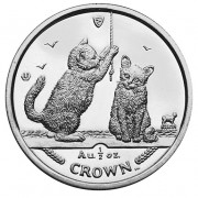Silver Coin Somali Kittens 2001 Cats Series - 1 oz