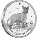 "Silver Coin ABYSSINIAN CAT 2010 ""Cats"" Series"