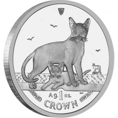 """Silver Coin ABYSSINIAN CAT 2010 """"Cats"""" Series"""