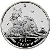 Silver Coin Turkish Angora Cat 2011 Cats Series - 1 oz