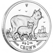 Silver Coin Manx Cat 2012 Cats Series - 1 oz