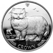 Silver Coin Persian Cat 1989 Cats Series - 1 oz